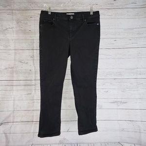 LOFT Modern Kick Crop Jeans Sz 10 Black